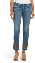 Cora Mid Rise Straight Crop Jeans