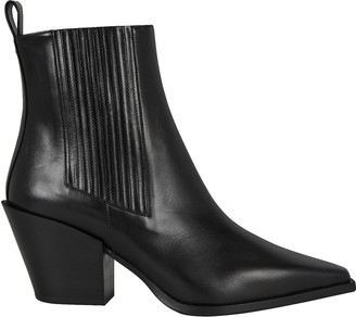 AEYDĒ Kate Leather Cuban Heeled Booties