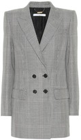 Givenchy Plaid wool and mohair blazer
