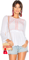 525 America Embroidered Top in White. - size M (also in S)