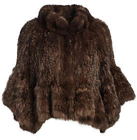 The Fur Salon Women's Knit Sable Fur Cape