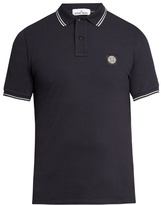 Stone Island Short-sleeved Stretch-cotton Polo Shirt