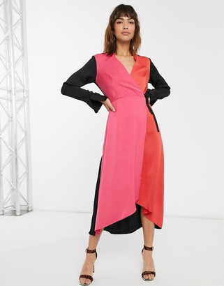 Closet London Closet a-line midi wrap dress