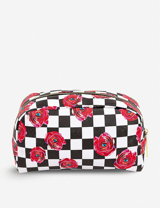 Seletti wears Toiletpaper floral-print faux-leather case 23cm x 13cm