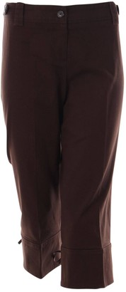 Ann Taylor Brown Cotton Trousers for Women
