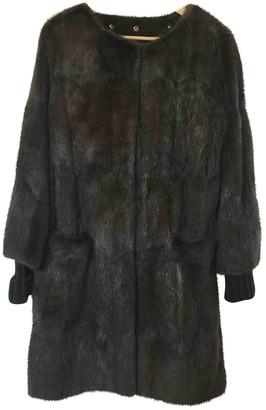 Sylvie Schimmel Brown Fur Coat for Women