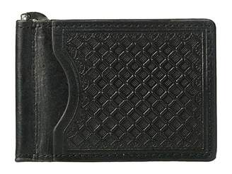 M&F Western Embossed Tooled Bifold Money Clip Wallet