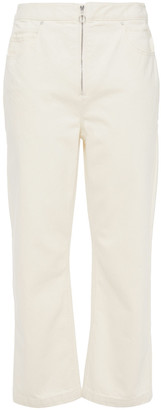 Theory Cropped High-rise Straight-leg Jeans