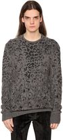 John Varvatos Leopard Cashmere Blend Sweater