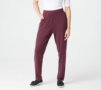 Denim & Co. Active Petite Heavenly Jersey Straight Leg Pants