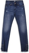 7 For All Mankind Girls' Laced Skinny Jeans