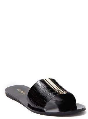 Aldo Crowland Snakeskin Embossed Slide Sandal