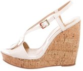 Roger Vivier Buckle-Accented Leather Wedges