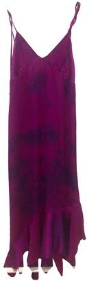 Marques Almeida Purple Silk Dresses
