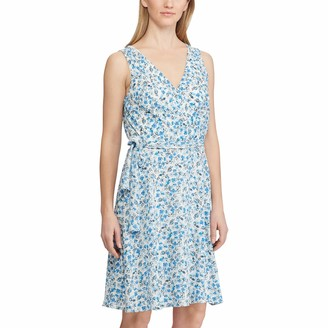 Chaps Women's Floral Fit-and-Flare Dress