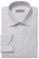 Canali Solid Spread Collar Dress Shirt