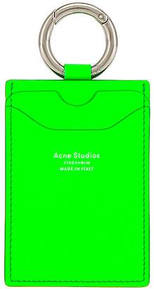 Acne Studios Lanyard in Fluo Green | FWRD