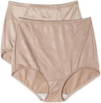Bali Women's Shapewear Tummy Panel Brief Firm Control 2-Pack