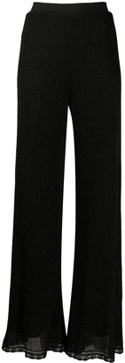 M Missoni Flared Ribbed Lurex Trousers