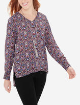 The Limited Printed High-Low Blouse