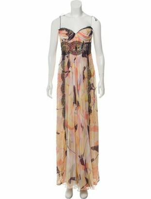 J. Mendel Silk Maxi Dress White