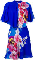 Roberto Cavalli ruffled floral print dress