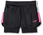 Girls' 2 in 1 Mesh Shorts Black - C9 Champion®