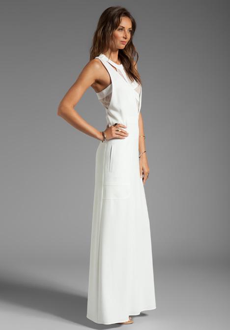 BCBGMAXAZRIA Runway Cut-Out Maxi Dress