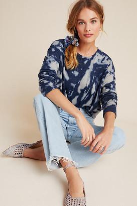Eri + Ali Ilsa Tie-Dye Sweatshirt By in Blue Size XS