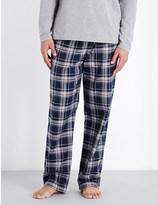 HUGO BOSS Cosy cotton-flannel pyjama bottoms