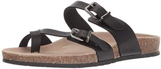 Sugar Women's Xporter 2 Band Cork Sandal Slide with Buckles and Toe Thong Smooth