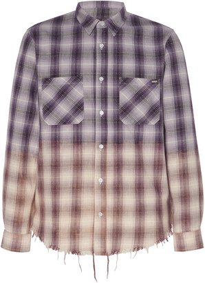 Amiri Ombre Plaid Cotton Shirt