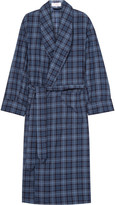 Emma Willis - Checked Brushed-Cotton Twill Robe