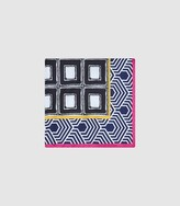 Reiss Square - Printed Pocket Square in Multi