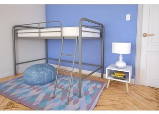 DHP Twin Junior Loft Bed with Mattress, Multiple Colors