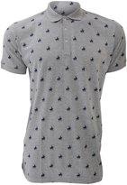 Universal Textiles Mens Polo Player Pattern Short Sleeve Polo Shirt (Grey)