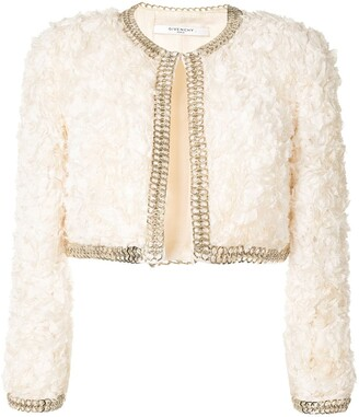 Givenchy Pre-Owned Ruffled Cropped Jacket