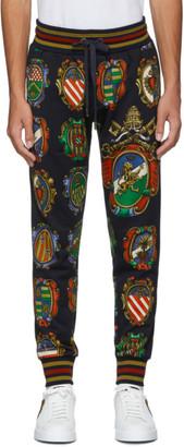 Dolce & Gabbana Black Emblem Lounge Pants