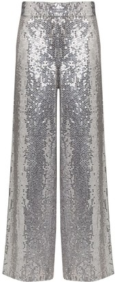 Ashish Sequinned Palazzo Trousers