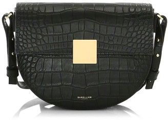 DeMellier Oslo Croc-Embossed Leather Crossbody Bag