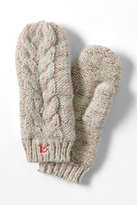 Classic Women's Chunky Donegal Cable Mittens-Reef Blue