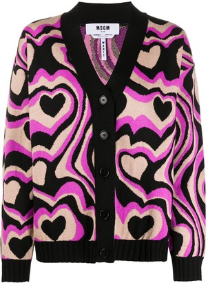 MSGM Psychedelic Print Cardigan