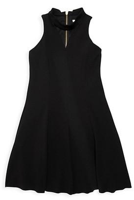 Zoe Girl's Rowan Choker-Neck Shift Dress