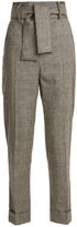 Sara Battaglia Prince of Wales-checked wool-blend trousers