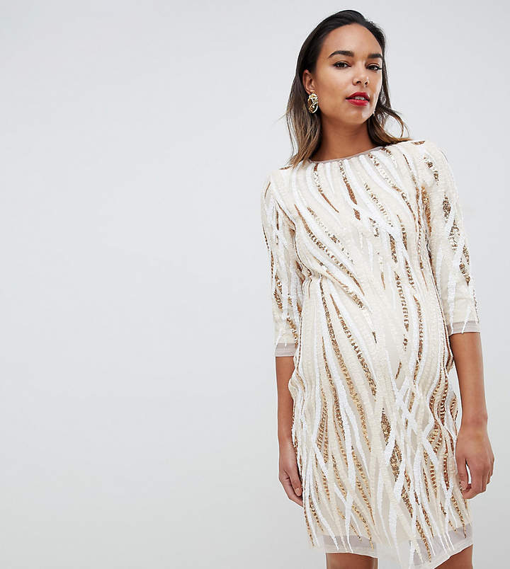 ab5d1f22950ec Nude Maternity Dress - ShopStyle