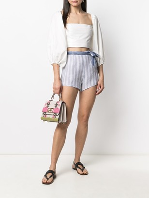 Ermanno Scervino Stripe-Print Tie-Waist Shorts