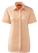 Classic Women's Tall Short Sleeve No Iron Shirt-Black Check