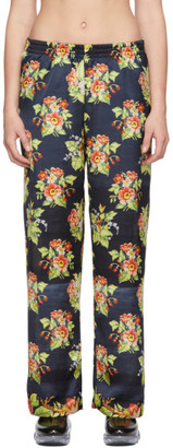 Paco Rabanne Black Floral Trousers