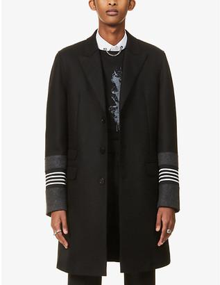 Neil Barrett Single-breasted skinny-fit wool-blend coat