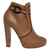 Hermes Brown Leather Ankle boots